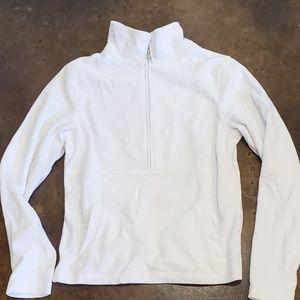 Pure White Fleece Pullover